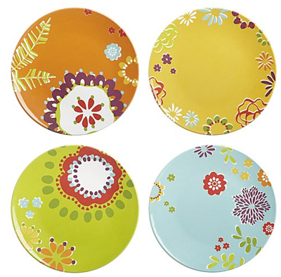 flower melamine plates cratenbarrel via apt therapy